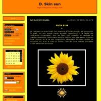 style tons jaune orange noir